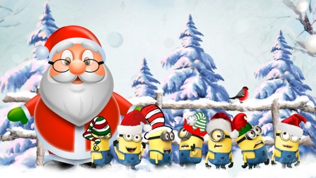 Christmas Minions - Winter & Nature Background Wallpapers on ...