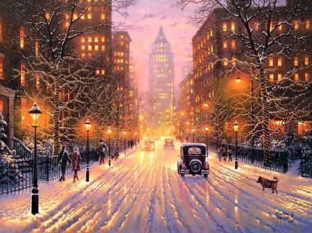 light background paintings winter city lights winter nature background wallpapers on