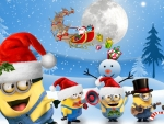 Minion Christmas Helpers