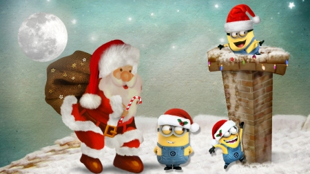 Christmas Minions Theme by MaDonna - Winter & Nature Background ...