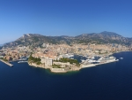 birds eye panorama over monaco