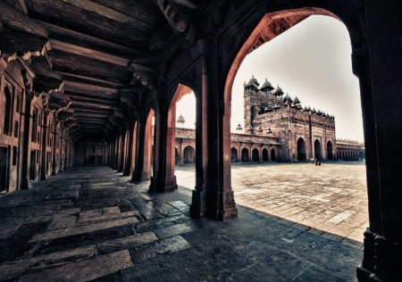 Ancient Indian Architecture Interior Photography Abstract