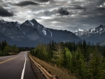highway to canadian rockies hdr