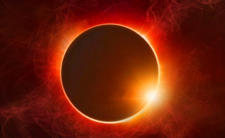 Eclipse - Sun, Black, Moon, Orange