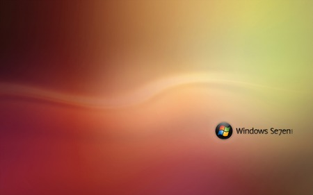 Wallpaper 81 - Windows 7 - 7, microsoft, windows, ball, vista, seven, yellow, orange, windows 7