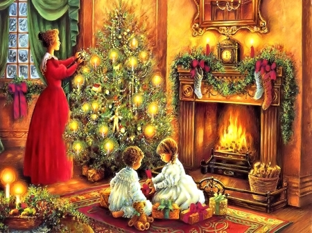 old fashion christmas wallpaper free - photo #31