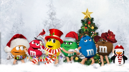 m and m christmas winter amp nature background wallpapers
