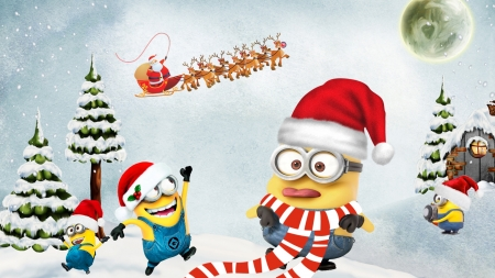 Humbug Minion - Winter & Nature Background Wallpapers on Desktop ...