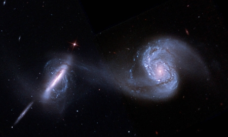 Arp 87 Merging Galaxies from Hubble - space, cool, galaxy, stars, fun