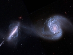 Arp 87 Merging Galaxies from Hubble