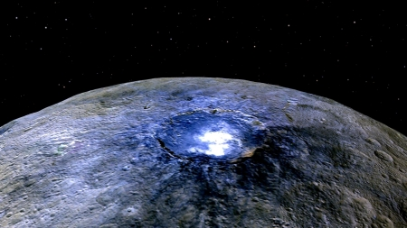The Brightest Spot on Ceres - space, cool, stars, ceres, planet, fun