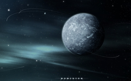 Momentum - space, 3D, CG, stars, planets, galaxies