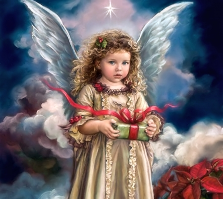 Lovely christmas angel other abstract background for Christmas angels