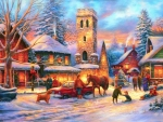 Christmas in Village