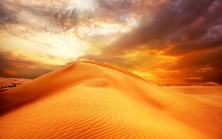 Desert - desert, cloud, sand, nature