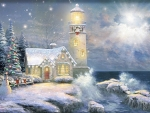 Lighthouse christmas spirit