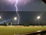 lightning at ball field