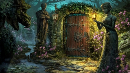 Fantasy Garden Backgrounds
