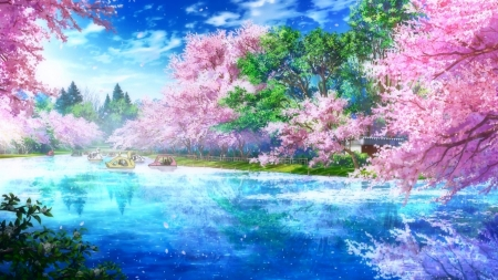 Anime Lake Other Anime Background Wallpapers on Desktop Nexus