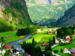 Flam Valley in Norway