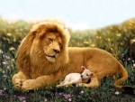 The lion and a lamb