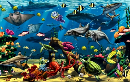 Under the Sea F1 - Fish & Animals Background Wallpapers on Desktop ...