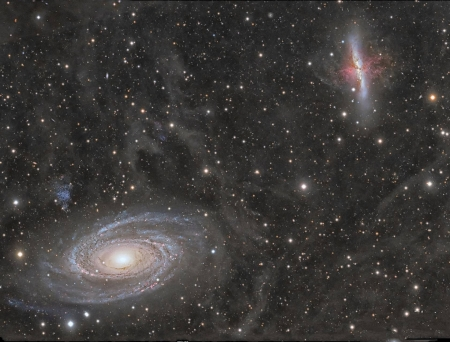 Galaxy Wars M81 versus M82 - space, cool, galaxy, stars, fun