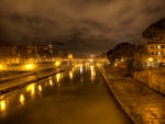 Rome,Tiber River at Night