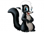 Flower the skunk