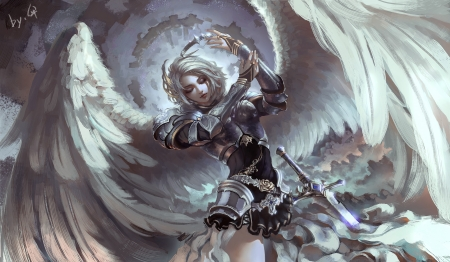 knight angel fantasy amp abstract background wallpapers on