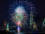Fireworks in NYC Skyline F