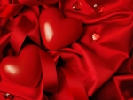 Valentine red hearts