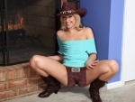 Cowgirl Warming Up