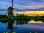 The Village of Kinderdijk,South Holand