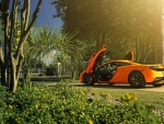 sun shining on a mclaren mp4 12c