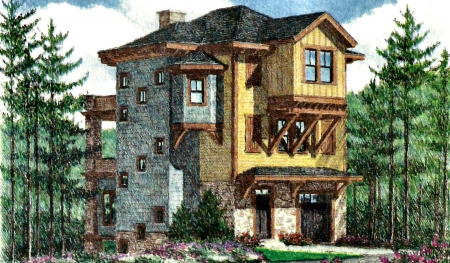 Rustic Three Story Cottage F1 Houses Architecture