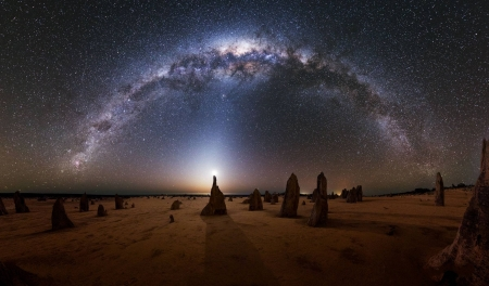 Milky Way over the Pinnacles in Australia - space, cool, stars, milky way, fun