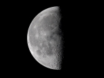 half moon in space