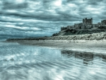 Stormy Clouds Over Bamburgh Castle, England