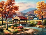 Fall at the Covered Bridge F