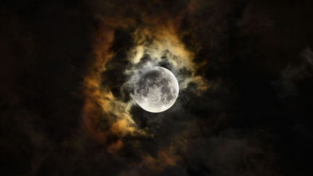 Fabulous Moon Shot F - space, moon, clouds, photography, night, scenery, photo, nature, wide screen, beautiful