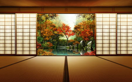 Japanese room other abstract background wallpapers on for Home wallpaper japan
