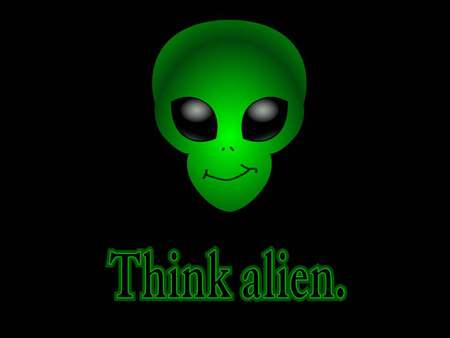 alien - wallpaper, green, alien, head
