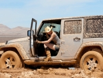 Cowgirl & Jeep Stuck In Mud