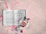 Music Book and Rose F