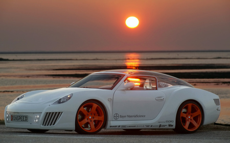 sunset_porsche - cars, sports car, widescreen, sunset, mnj, hop, porsche