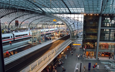 Berlin Central Station - germany, berlin, rail, central station