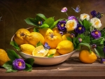 Flowers and lemons