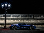 Ford GT Concept under a Street Lamp