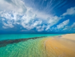 Blue Sky over Turquoise Ocean